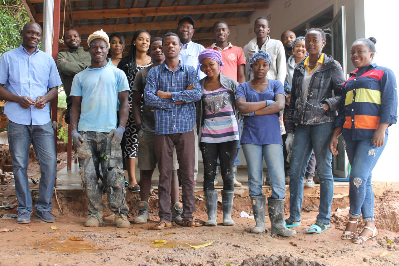 Volunteers on the church building project in Lubumbashi, Congo DRC