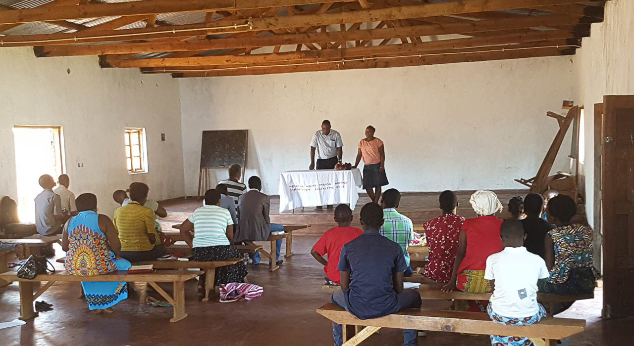 Local meeting of a small BCC fellowship in Malawi